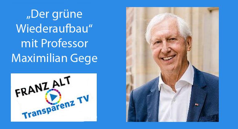 Franz Alt: Der grüne Wiederaufbau