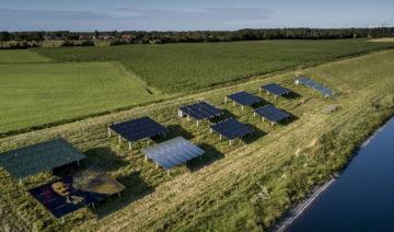 Stowa | Ein Photovoltaik-Pilotprojekt auf einem niederländischen Deich.