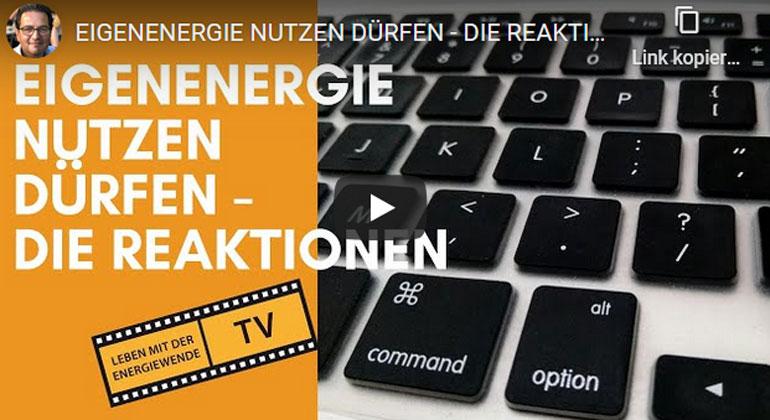 EigenEnergie nutzen dürfen – die Reaktionen