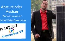 Transparenz TV | Screenshot | Prof. Volker Quaschning