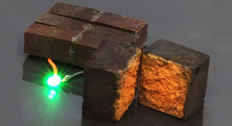 Storing energy in red bricks