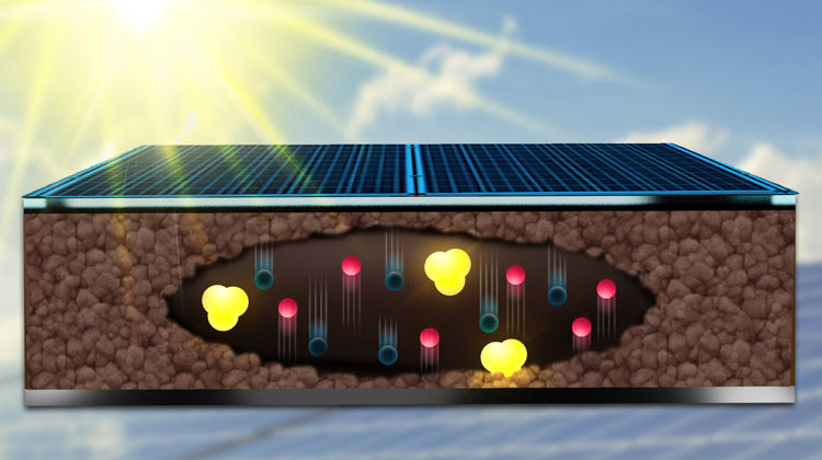 MPI-P | Ein komplexer Tanz: In einer Perovski-Solarzelle bewegen sich Elektronen, Löcher und Ionen und beeinflussen sich gegenseitig.
