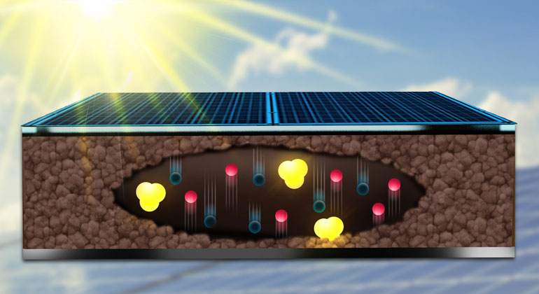 Wie sich Ladungen in Solarzellen bewegen