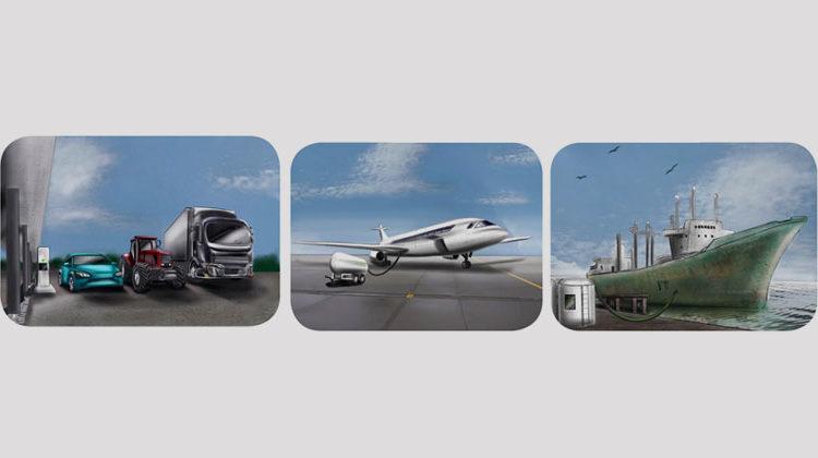 Fraunhofer Umsicht | Emissionsarme synthetische Biokraftstoffe: Benzin, Diesel, Schiffsdiesel, Kerosin.