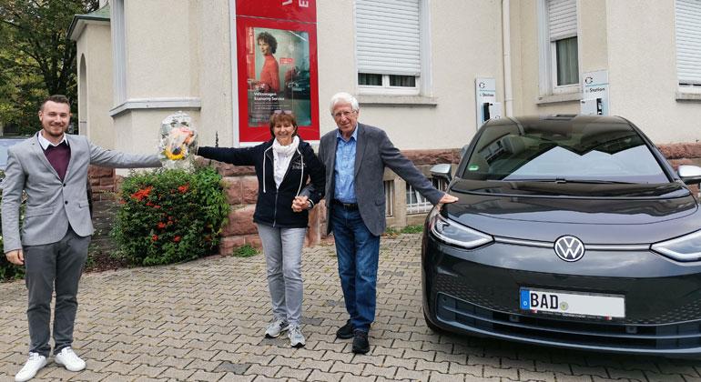 Caren Alt | Das Team der SONNENSEITE fährt den elektrischen ID3 Max. Foto: Manuel Kögel, Bigi Alt und Franz Alt