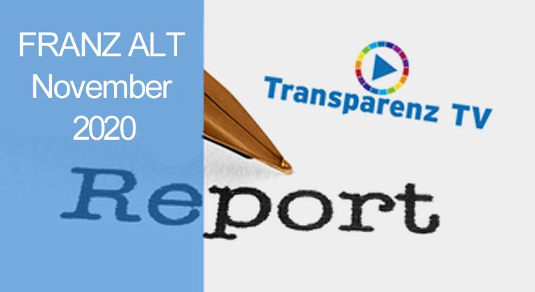 November-Report 2020 mit Franz Alt