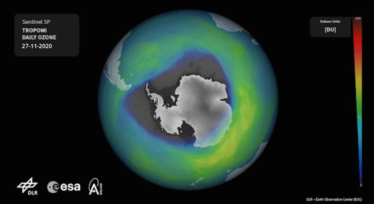 Riesiges Ozonloch über dem Südpol