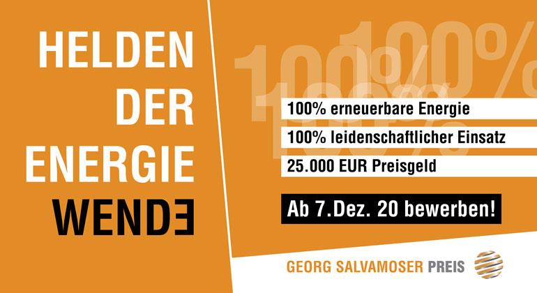 Georg Salvamoser Preis: Bewerbungsportal öffnet 7. Dezember
