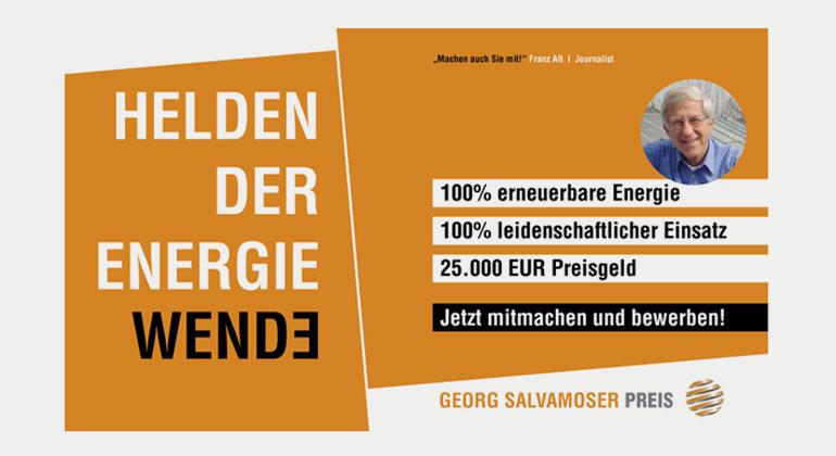 Georg Salvamoser Preis (25.000 Euro) für 100 Prozent Erneuerbare Energie