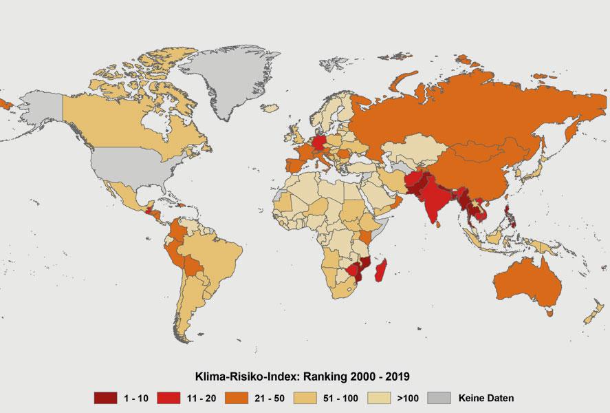 © Klima-Risiko-Index 2021 / germanwatch.org/de/kri