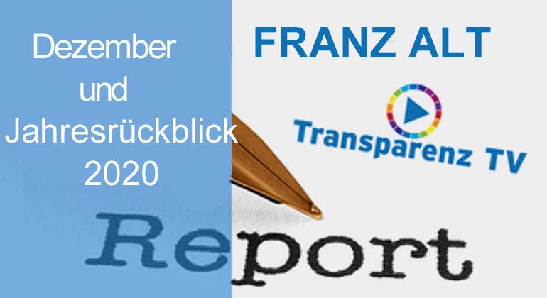 TransparenzTV | Franz Alt – Report Dezember 2020 und Jahresrückblick 2020