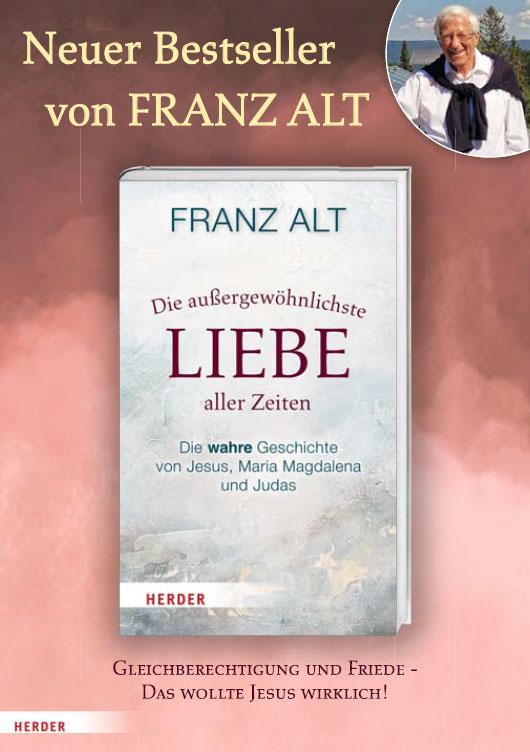 """Franz Alt """"Die außergewöhnlichste Liebe aller Zeiten"""" - Flyer"""