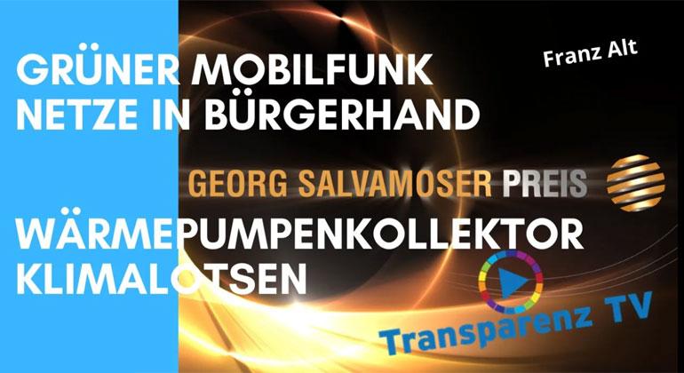 Franz Alt: Gewinner des Georg Salvamoser Preis 2021