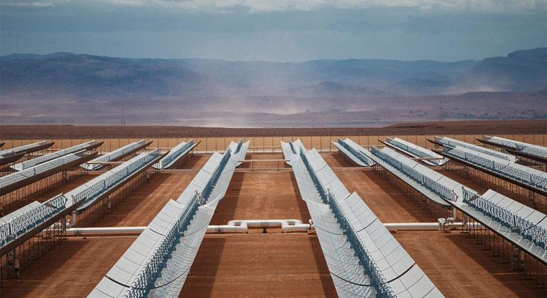 DLR   SENER   Solarthermisches Kraftwerk Noor I & II in Ouarzazate, Marokko