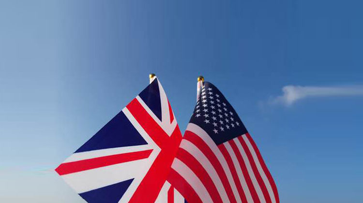 Clipdealer.com | MotionWorksFilmStudio | USA Großbritanien Flagge