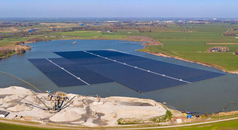 First insights into Floating-PV's environmental impact