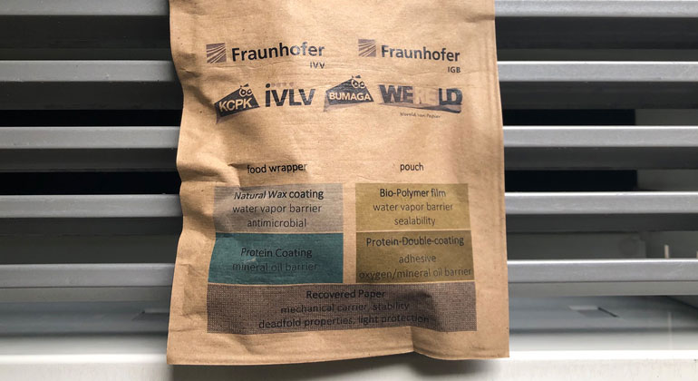 Bioactive paper coatings to replace plastic for packaging foods