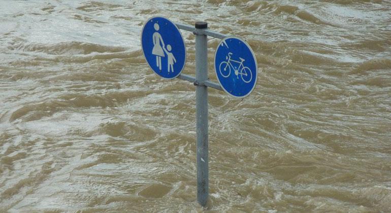 Menschengemachte Erderwärmung hat zu Flutkatastrophe beigetragen